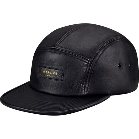 ef73c5299a Supreme  Leather Camp Cap - Black ( 68.00) - Svpply