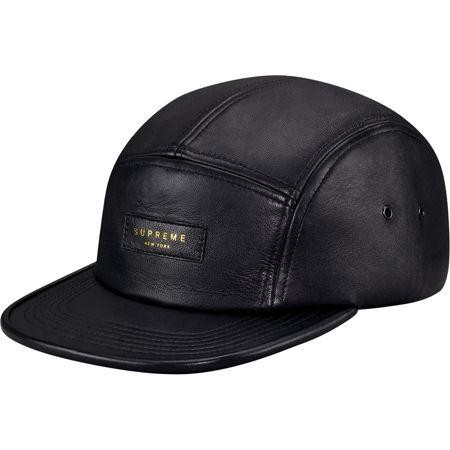 f14a22b6291 Supreme  Leather Camp Cap - Black ( 68.00) - Svpply