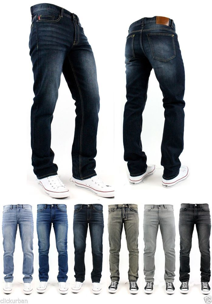 64421cd6 K Men's Washed SLIM FIT Stretch Denim Jeans Pants Size 30 - 38 #KAYDENK  #SlimSkinny