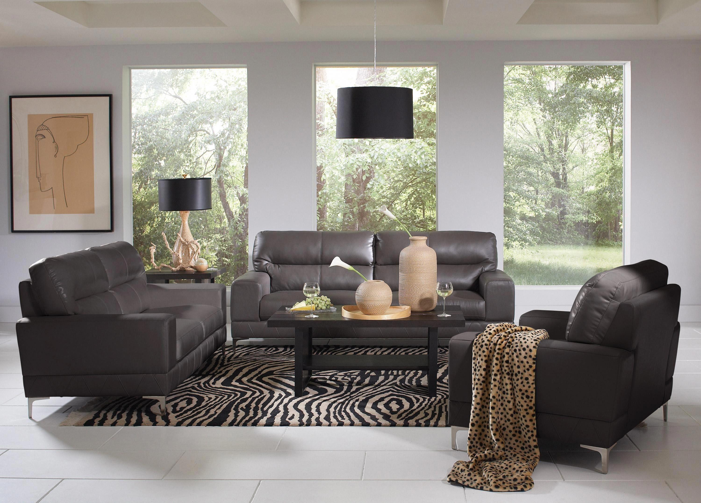 Dark Grey Leather Sofa Decorating Ideas Sofa Decor Leather Sofa