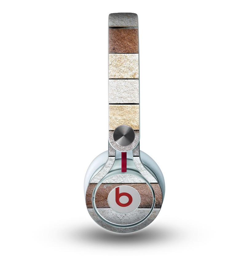 The Multicolored Stone Wall v5 Skin for the Beats by Dre Mixr Headphones