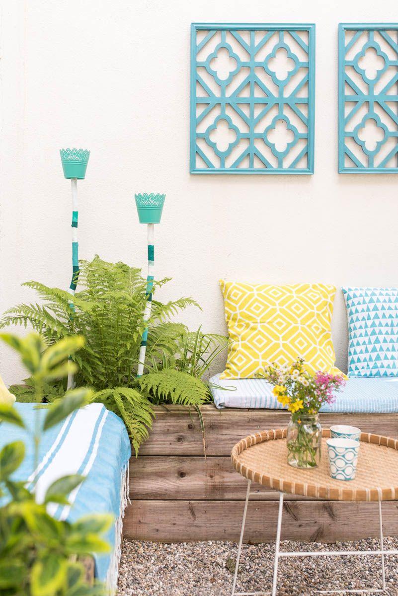 diy garten laternen f r pflanzk bel aus blument pfen und. Black Bedroom Furniture Sets. Home Design Ideas