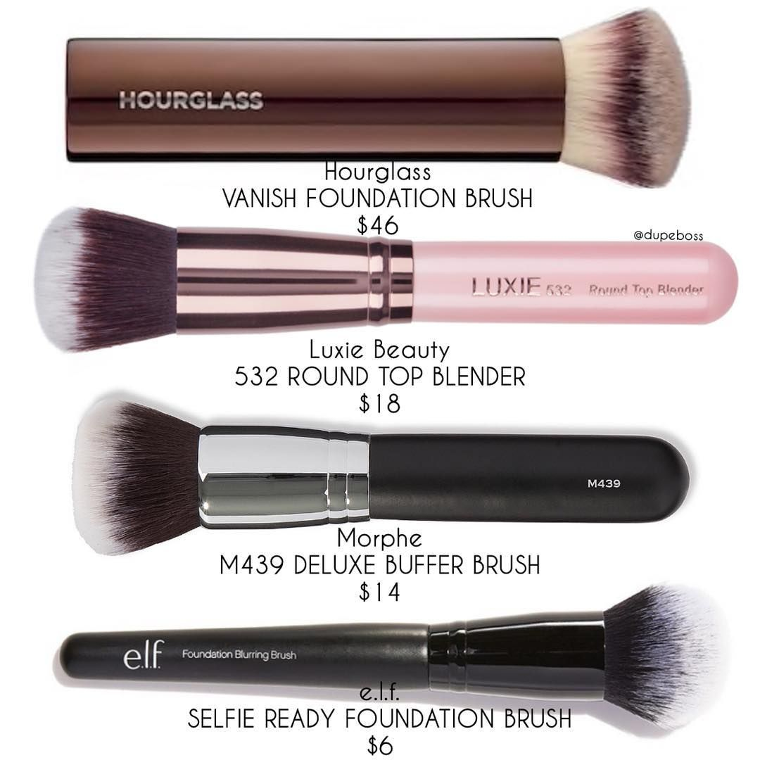 D U P E P R O O F Let S Get Buffing Blending Who Says The Perfect Foundation Brush Can T Be Affordable We Compar Makeup Brushes Makeup Brush Set Makeup