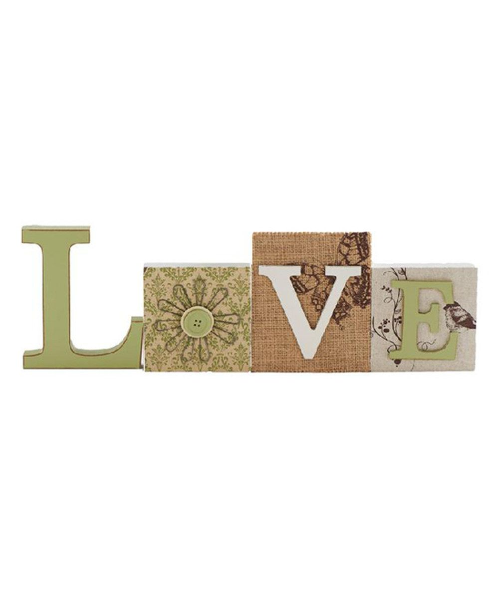 Look at this 'Love' Tabletop Cutout Block on #zulily today!