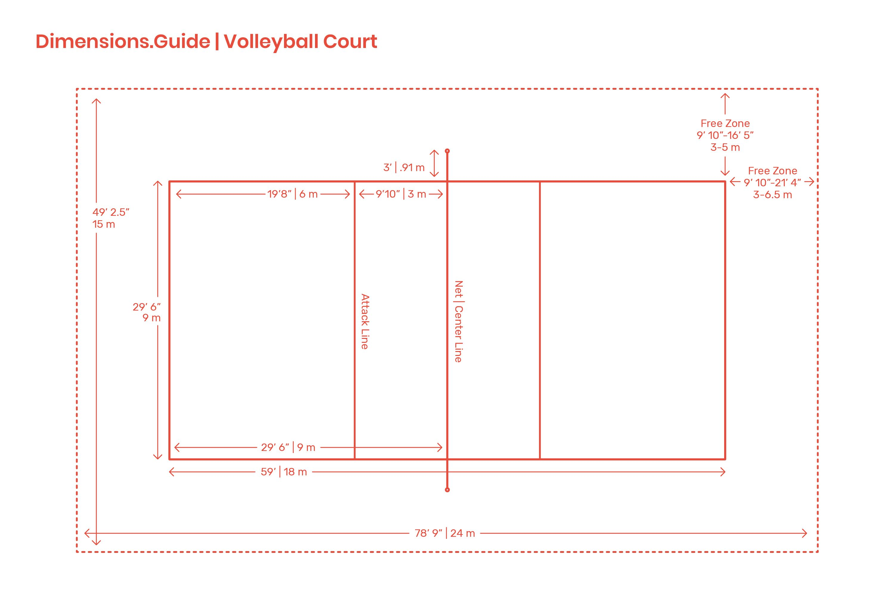 Volleyball Courts Volleyball Court Dimensions Volleyball Volleyball Court Size