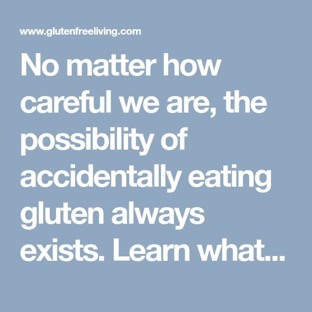 Recovering After Eating Gluten | Eating gluten, Gluten ...