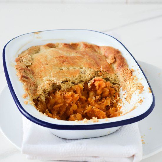 """Vegan """"cheese"""" and lentil pies with a grain-free crust."""