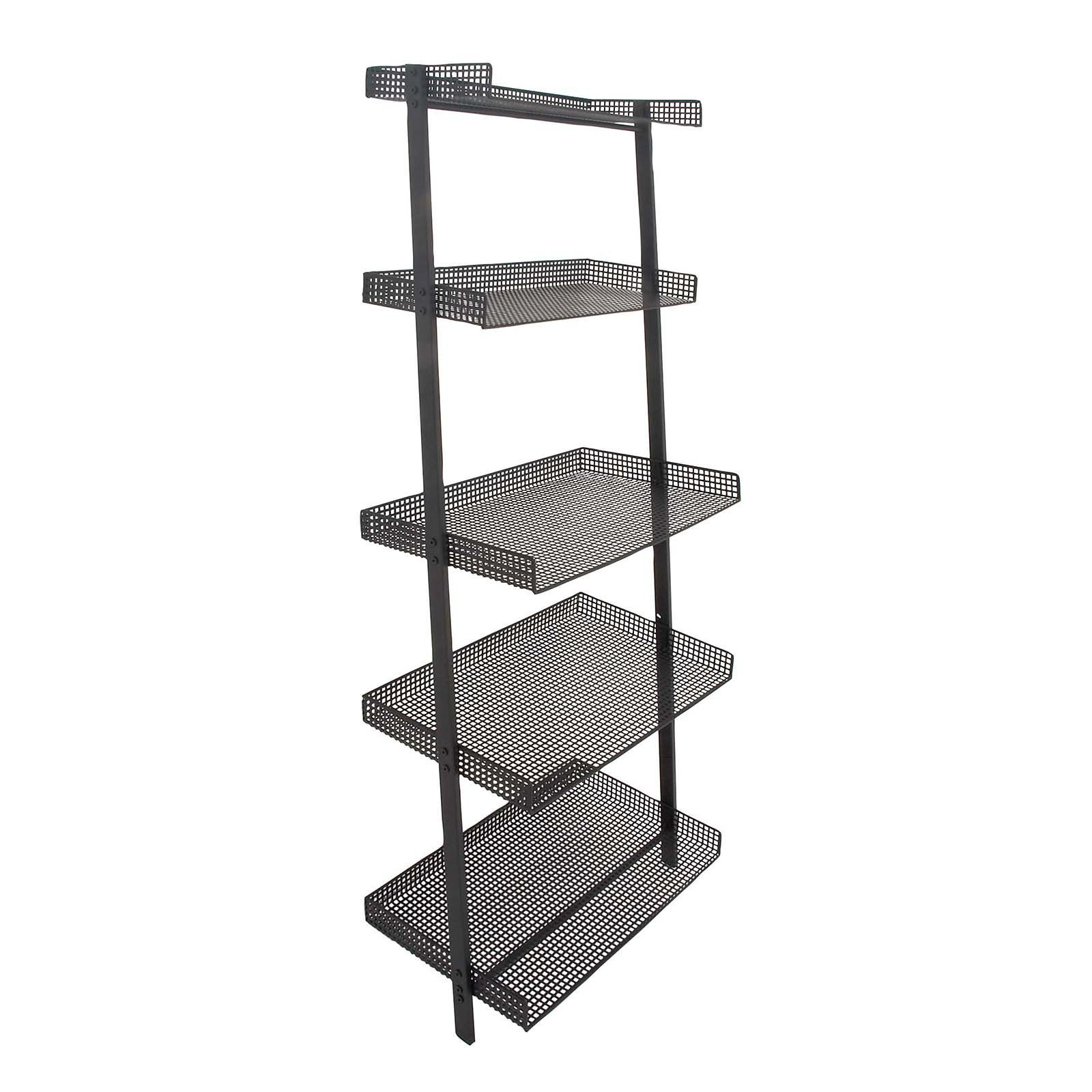 Decmode Iron Leaning Bookshelf Black Products In 2019