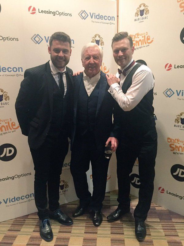 Danny Miller, his dad Vince Miller & Daniel Jillings at the Once Upon a Smile Grand Ball 2016
