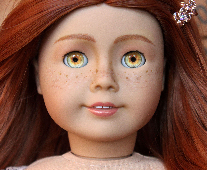 Custom OOAK American Girl Doll Rose Angel Freckles Hazel