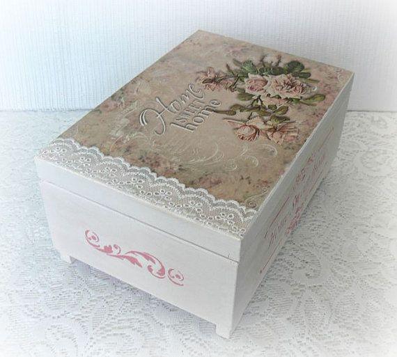 Caja de joyería de madera caja de joyería caja por CarmenHandCrafts