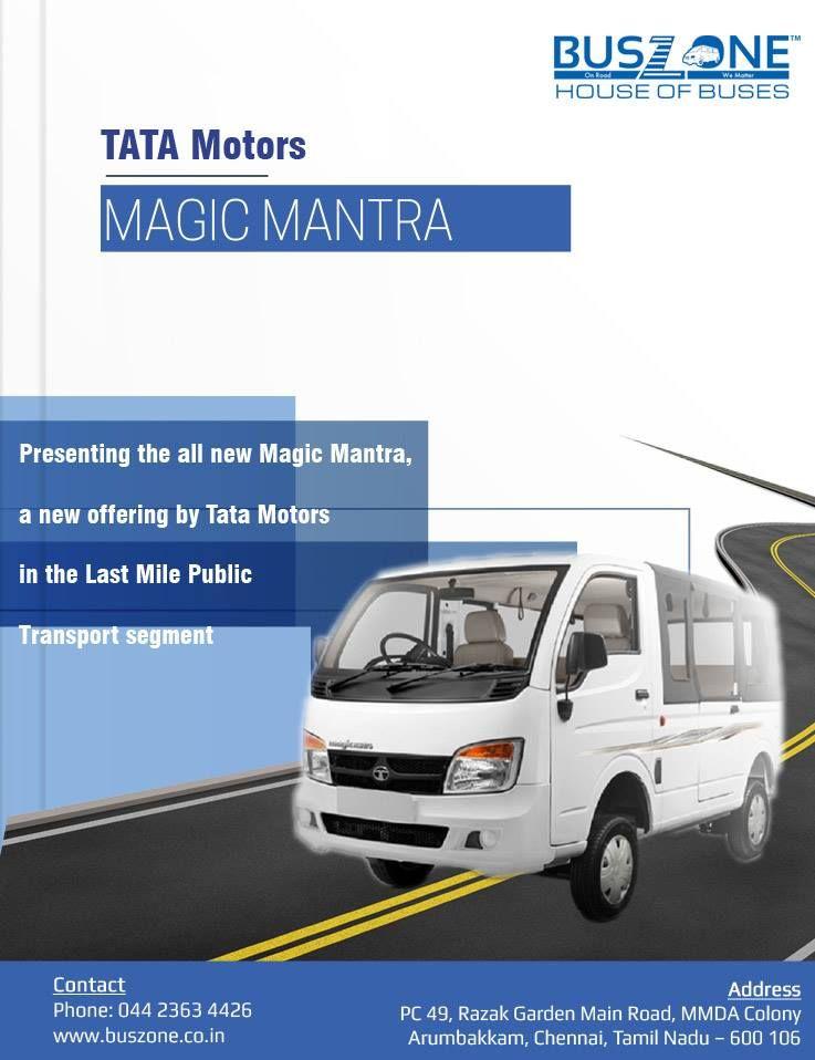 http//www.buszone.co.in/ tata motors magic mantra