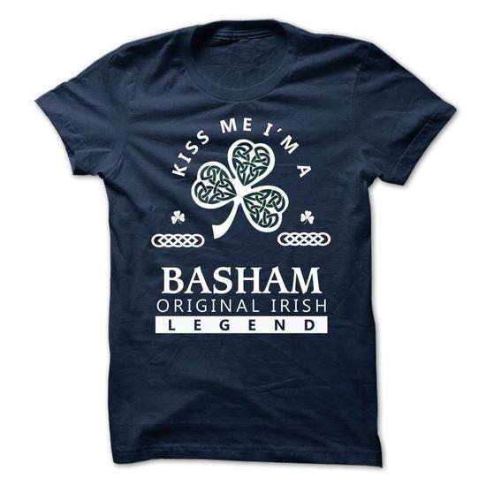 BASHAM - KISS ME IM Team - #gift for mom #gift exchange. OBTAIN => https://www.sunfrog.com/Valentines/-BASHAM--KISS-ME-IM-Team.html?68278