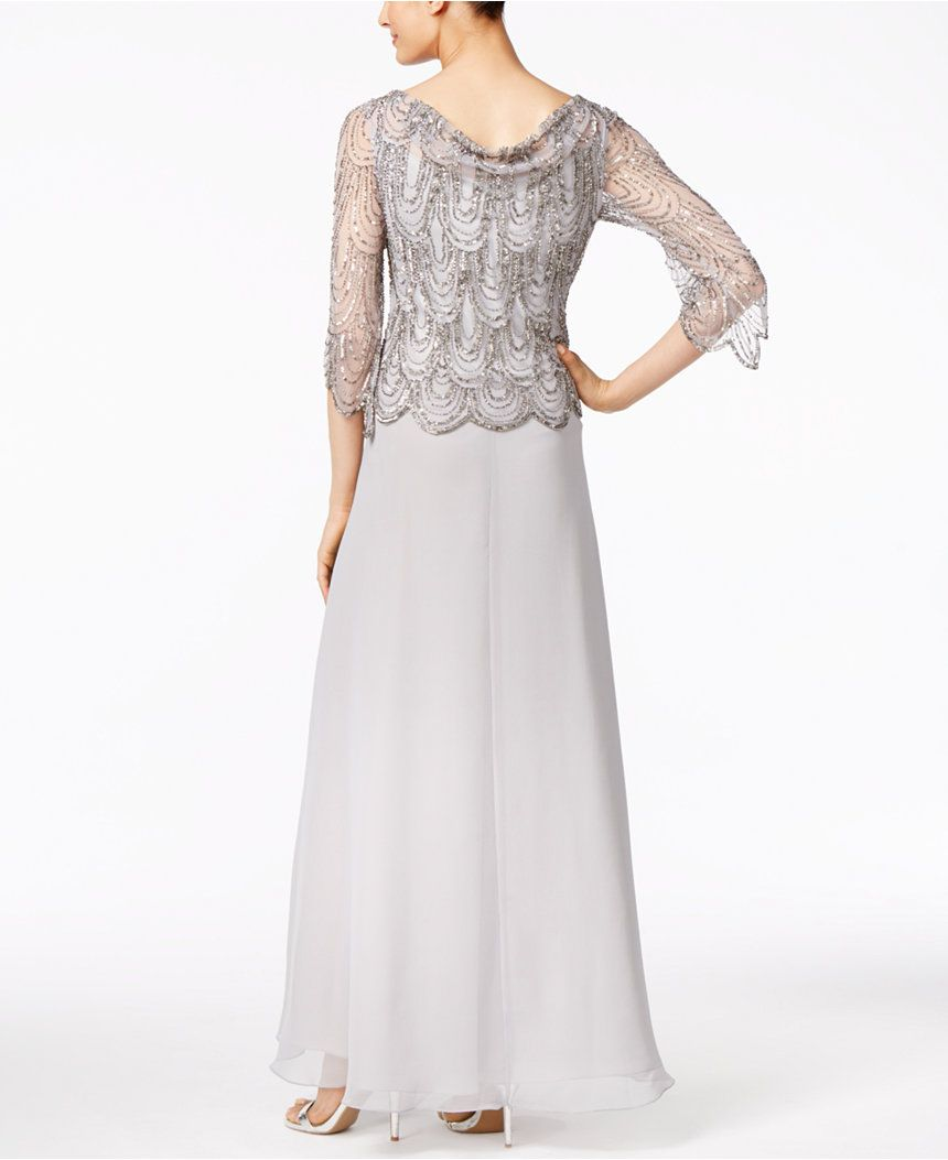 998f794fcf J Kara Embellished Cowl-Neck Gown - Mother of the Bride - Women - Macy s