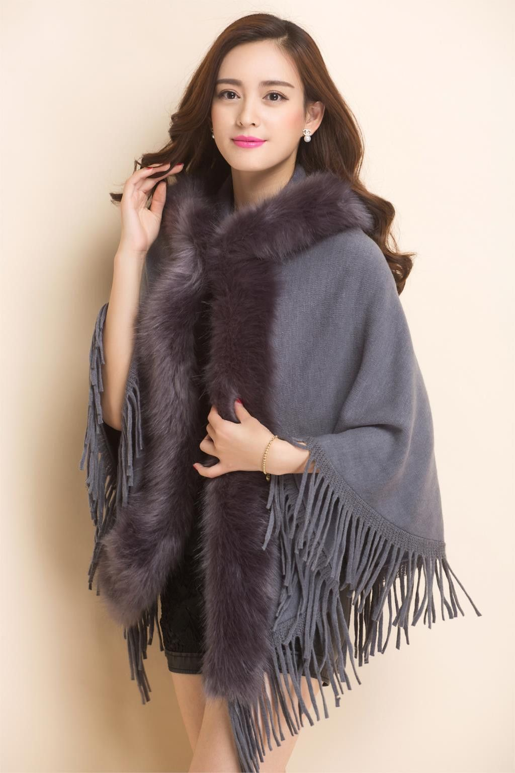 Womens capes and ponchos autumn winter women plus size hooded