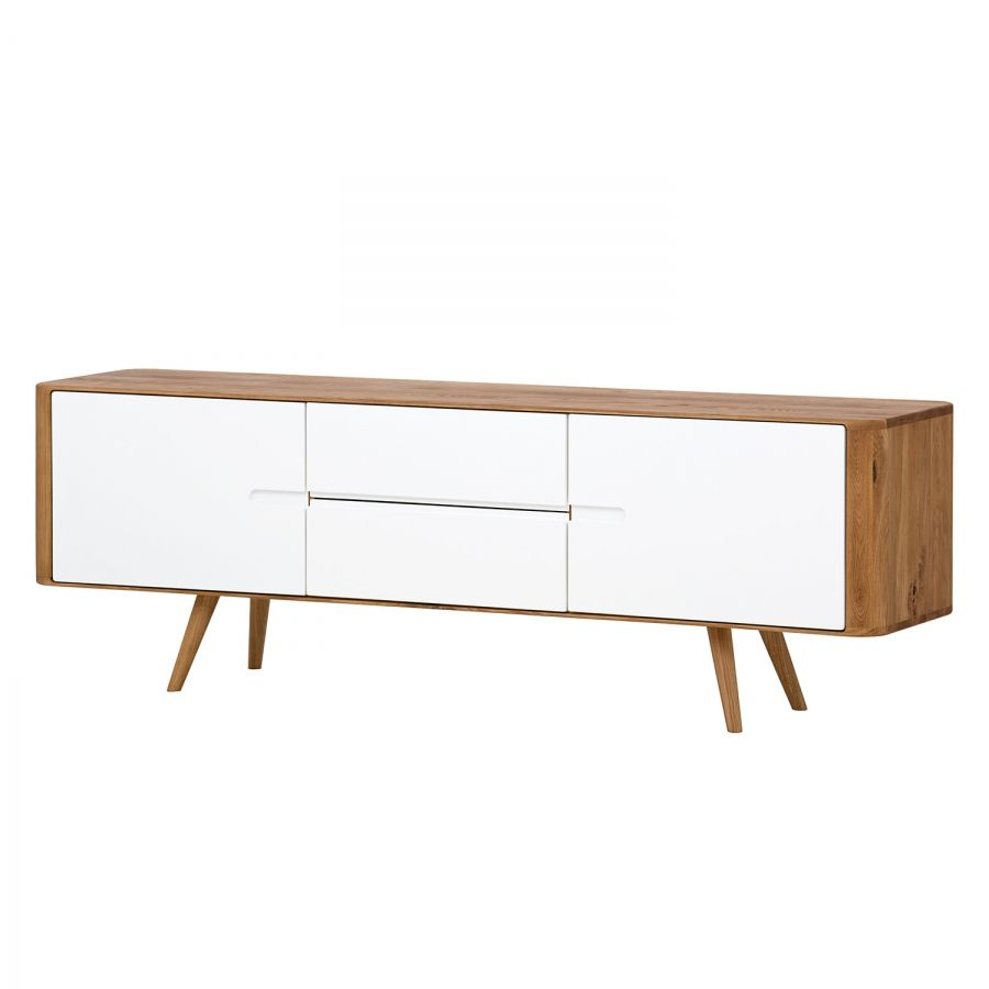 Sideboard loca i wildeiche massiv wei wildeiche for Sideboard 180 cm