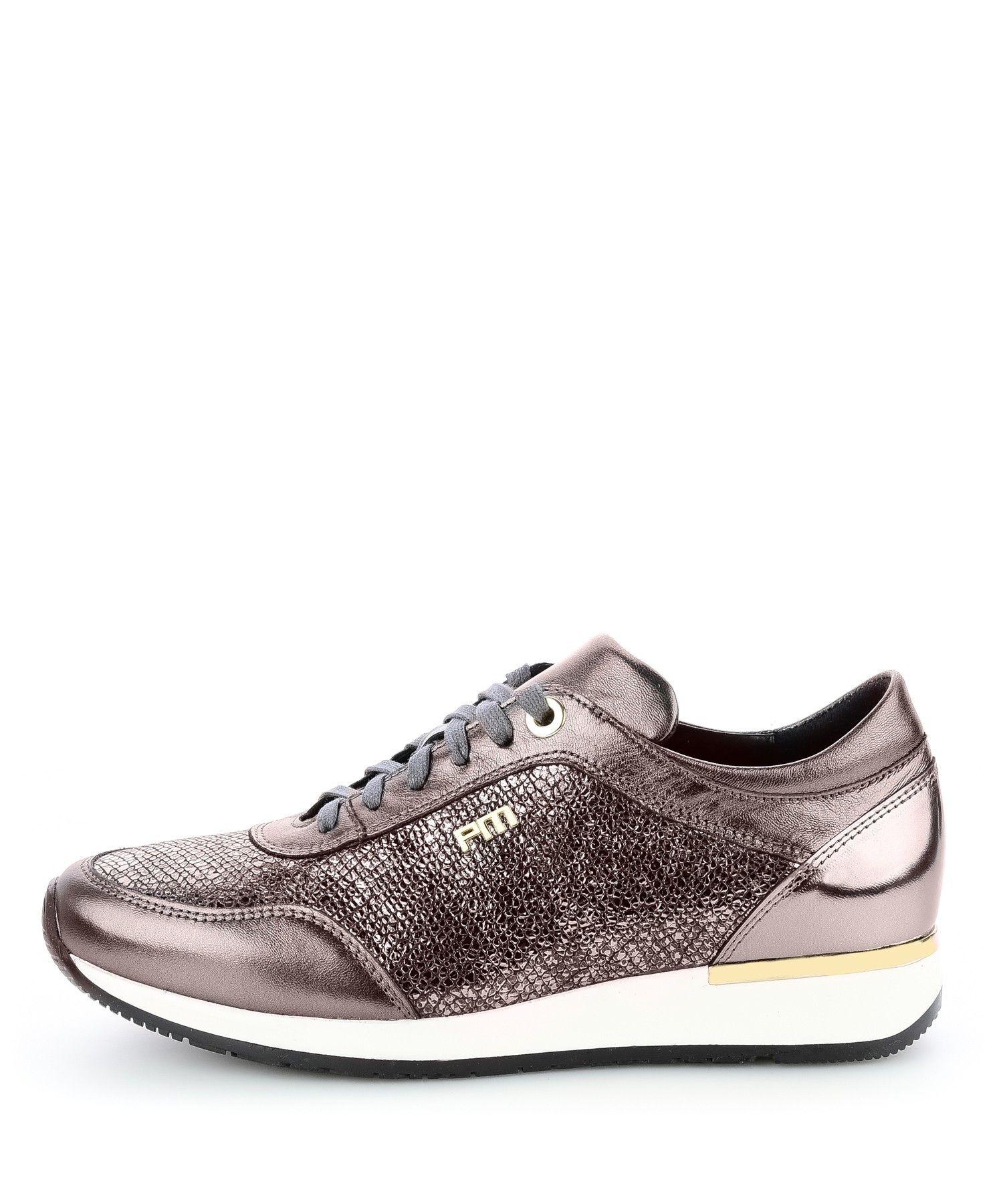 Grafitowe Sportowe Polbuty Ze Skory Laminowanej Fabbri Buty Damskie Sportowe Buty Damskie Skorzane Zamszowe Nubukowe Primamoda Shoes Sneakers Fashion