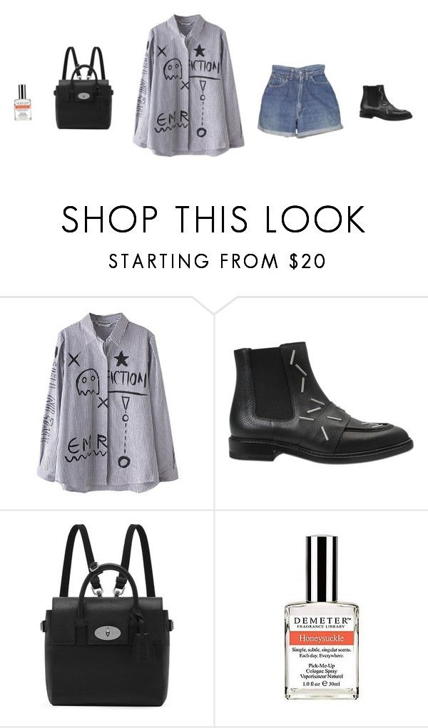"""Untitled #548"" by tatteredmelody ❤ liked on Polyvore featuring WithChic, Levi's, Christopher Kane, Mulberry and Demeter Fragrance Library"
