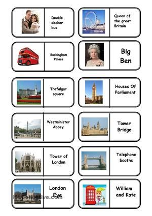landmarks flashcards printables buscar con google homeschooling pinterest anglais cole. Black Bedroom Furniture Sets. Home Design Ideas