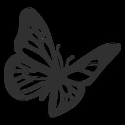 Monarch Butterfly Flying Silhouette Butterfly Tattoo Stencil Butterfly Drawing Butterfly Tattoo Designs