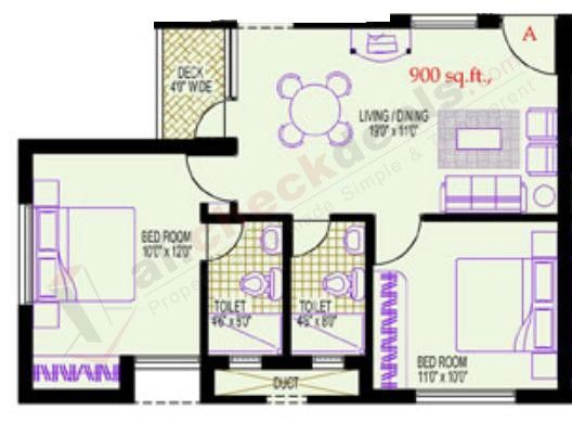 900 square foot house plans vijay shanthi park avenue for 900 sq ft floor plans