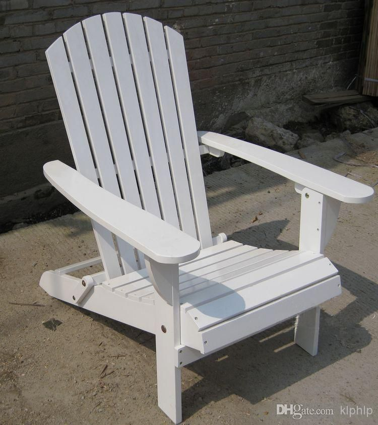 Beau Chair White Wood Patio Outdoor Furniture Beach Chairs Wooden