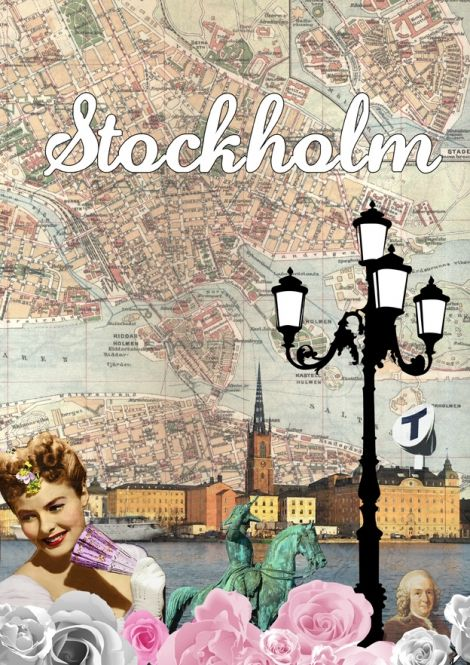 Stockholm  by I Love Design at Nordic Design Collective #design #poster #stockholm