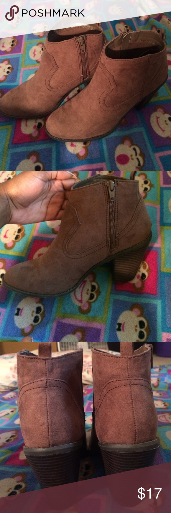 Cato Ankle boots Very clean these booties can be dressed up or dressed down. They've only been worn twice they are good as new. Cato Shoes Ankle Boots & Booties