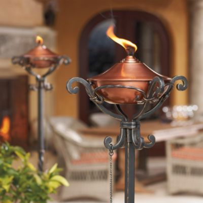 Set of two regent copper torches how does my garden grow set of two regent copper torches garden torchoutdoor lightingoutdoor workwithnaturefo