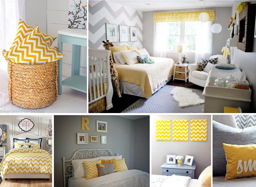 Sypialnia Szaro żółta Wiatrołap In 2019 Room Baby Room Bed