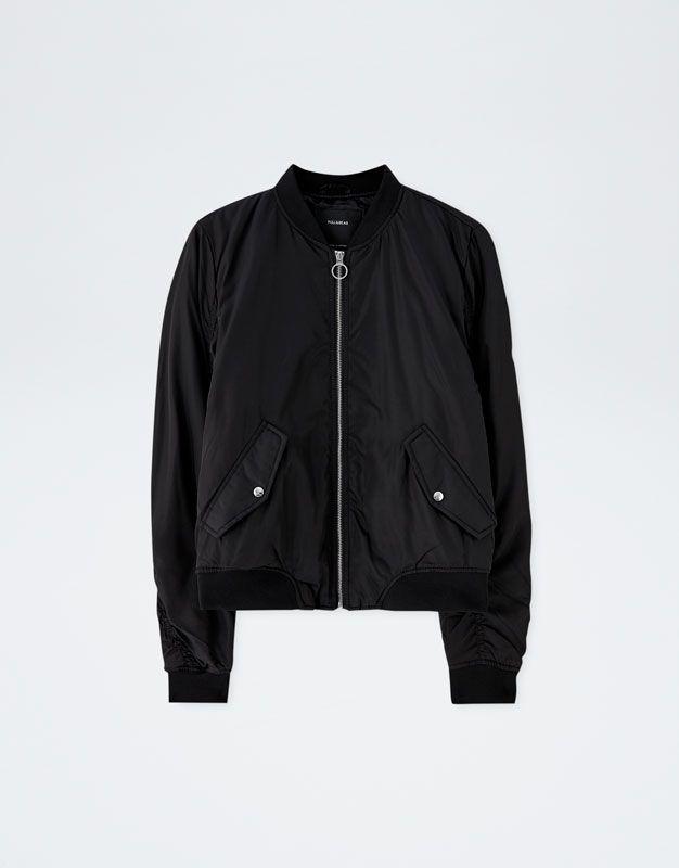Basic bomber jacket - PULL&BEAR   Cazadora bomber ...
