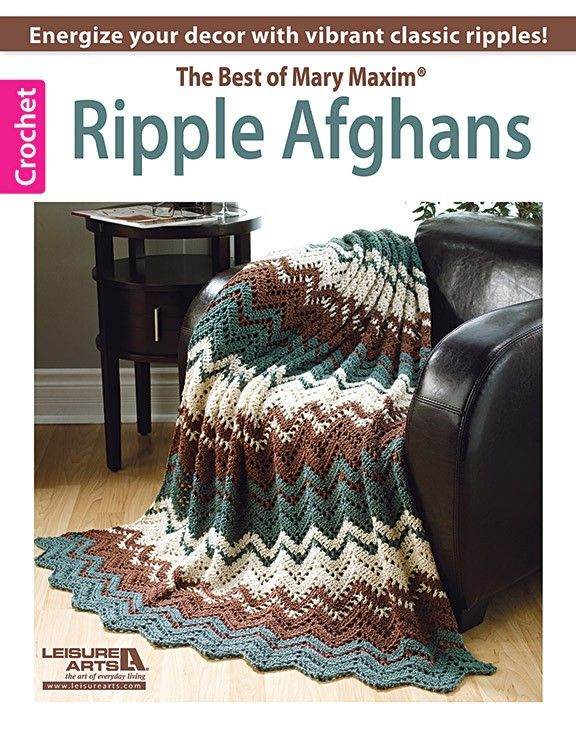 Become a master of ripple afghans with this collection of 10 ...