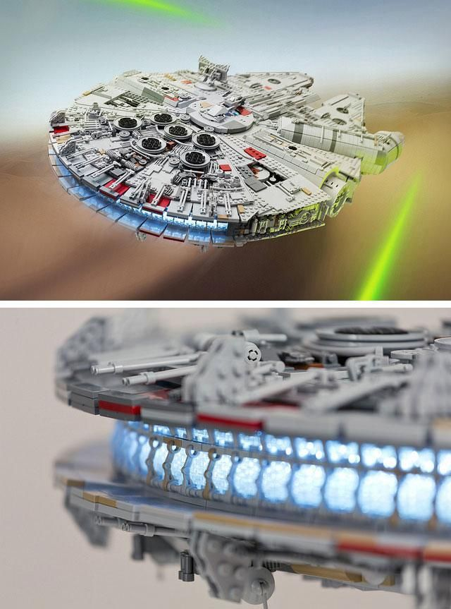 7559bb57 This epic Millennium Falcon took 7,500 Lego bricks and a full year ...