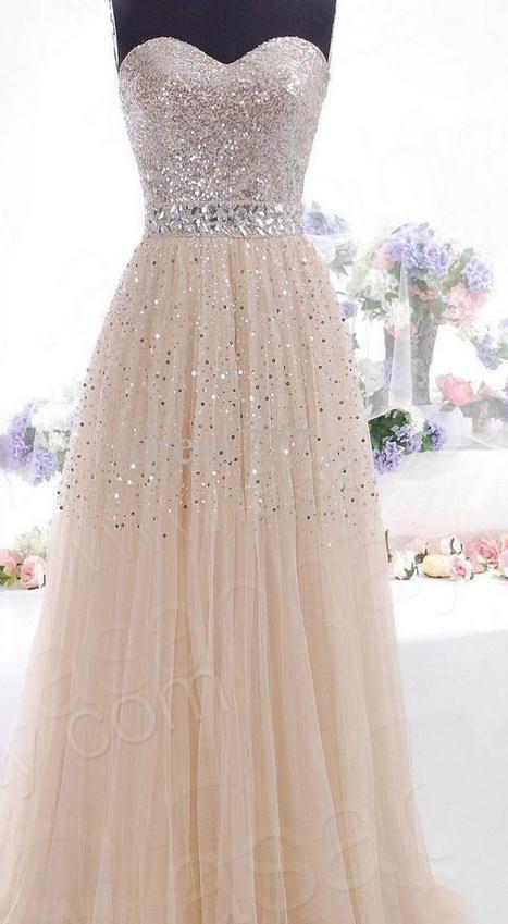 Vestidos de 15 color champagne largos