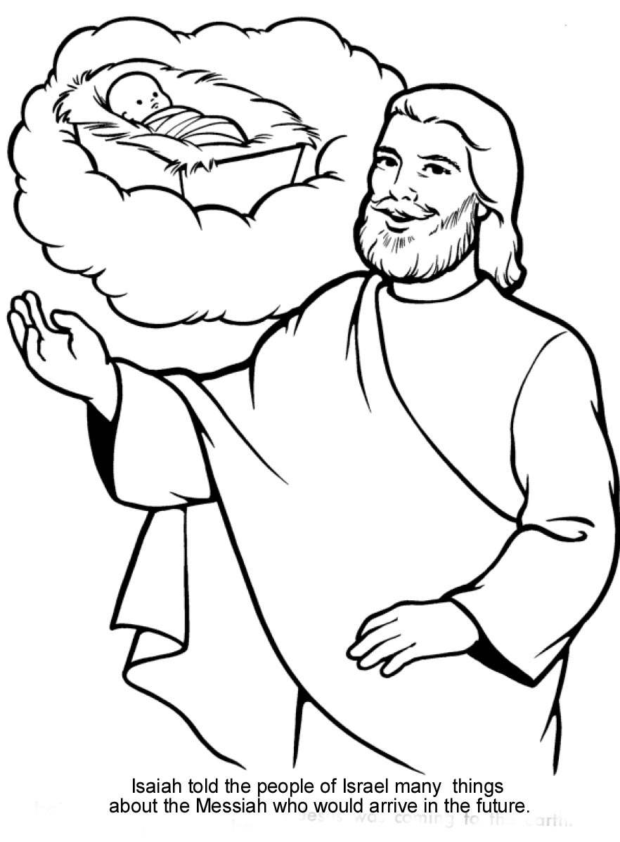 Isaiah S Prophecies About The Messiah Bible Coloring Pages Jesus Coloring Pages Bible Coloring