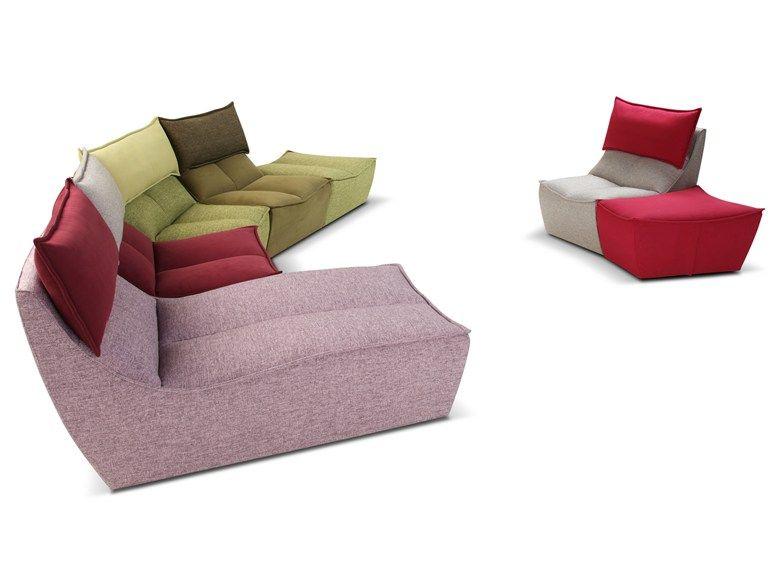 Modular fabric armchair HIP HOP | Modular armchair - Calia Italia ...