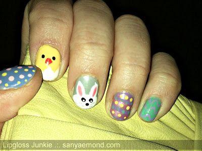 #Easter #Nailart #Bunny #Chick