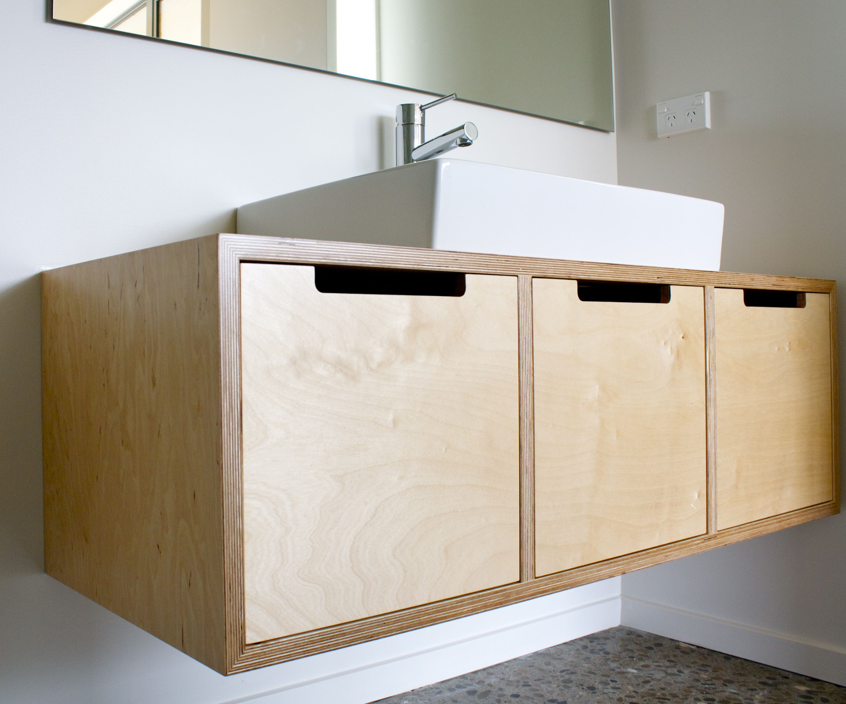 Plywood vanity make furniture my style pinterest for Plywood wall sheathing