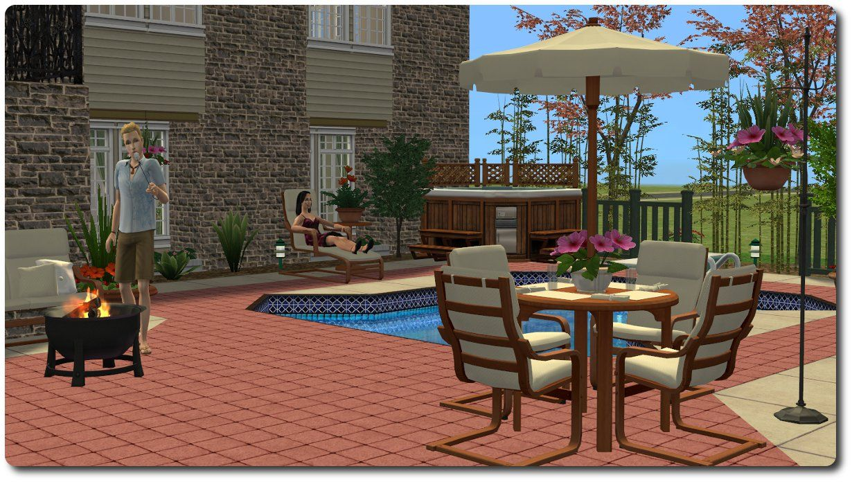 Mod The Sims   Patio And Garden Set: A Mixed Bag Of Stuff For The