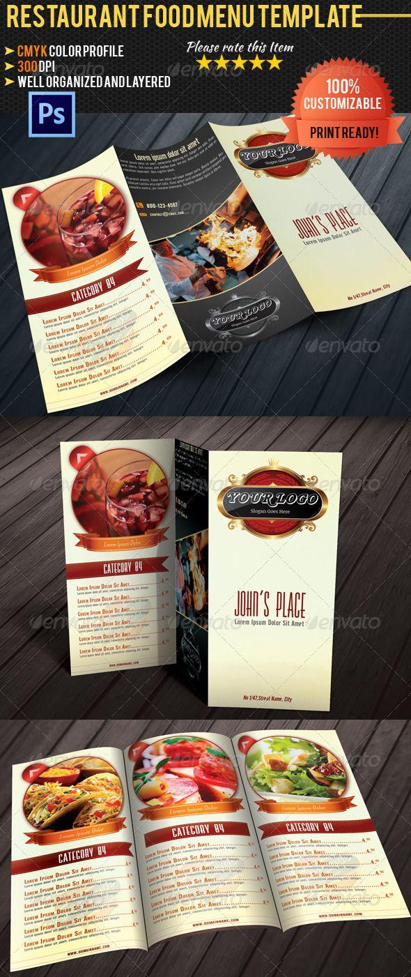 Restaurant Menu Trifold Brochure By Lilynthesweetpea On Menu