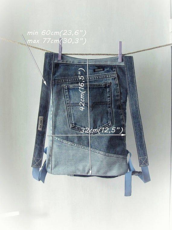 Ähnliche Artikel wie Unisex recyclinggecycelt blau Denim Rucksack Patchwork blau Jeans Rucksack Recycled Denim Tasche Unisex Vegan Rucksack Upcycled Jeans Rucksack auf Etsy