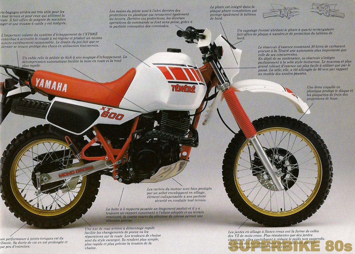 Xt 600 Tenere Moto Annees 80 Moto Voiture Et Motos
