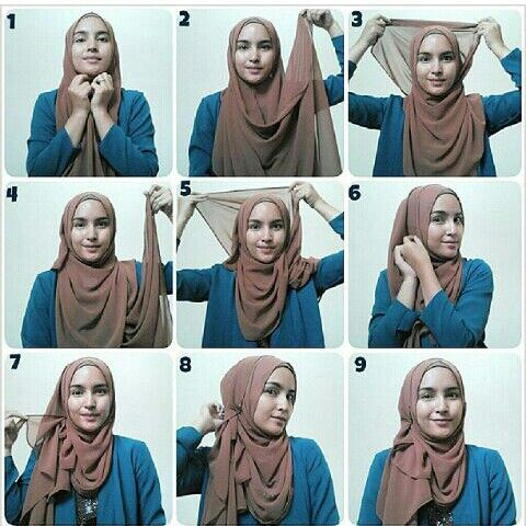 My Daily Hijab Tutorial Quick And Easy Do It Yourself Hijab Tutorial Hijab Style Tutorial