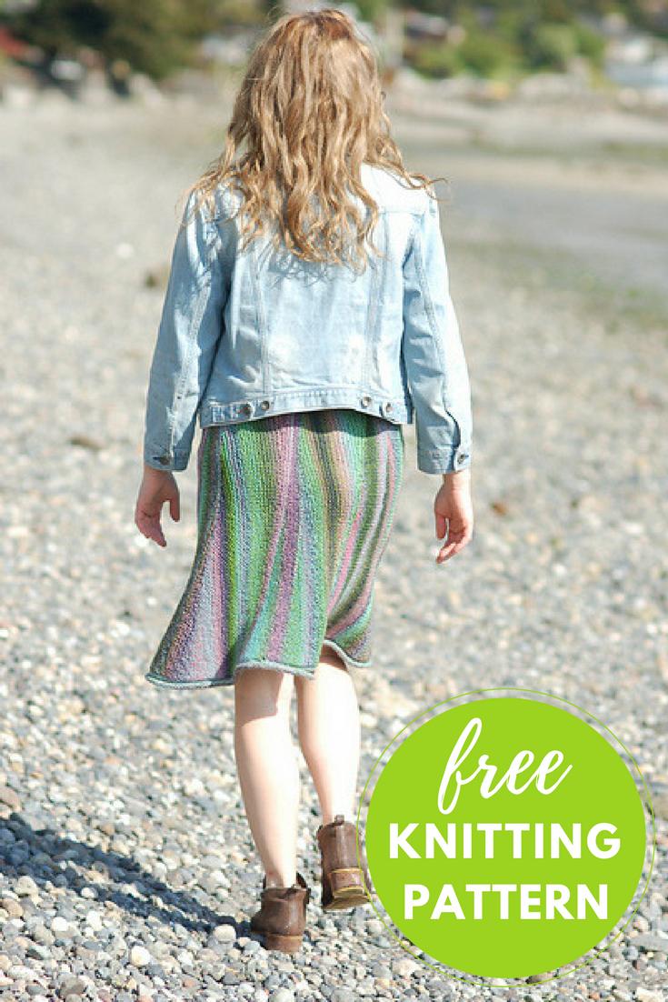 Slip On & Go Skirt Free Knitting Pattern | Knit patterns, Yarns and ...