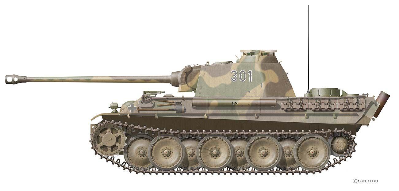 Panther Panzerkampfwagen V Ausf. G, Black 301of the 2nd ...