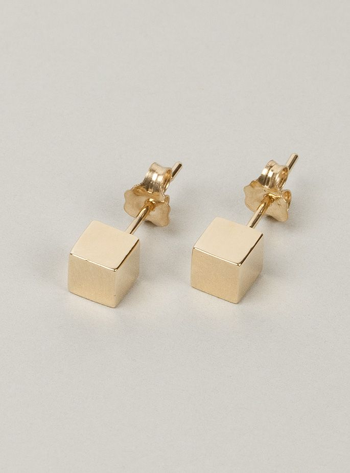 gold bling carat sterling woven jewelry pfs knot earrings love stud