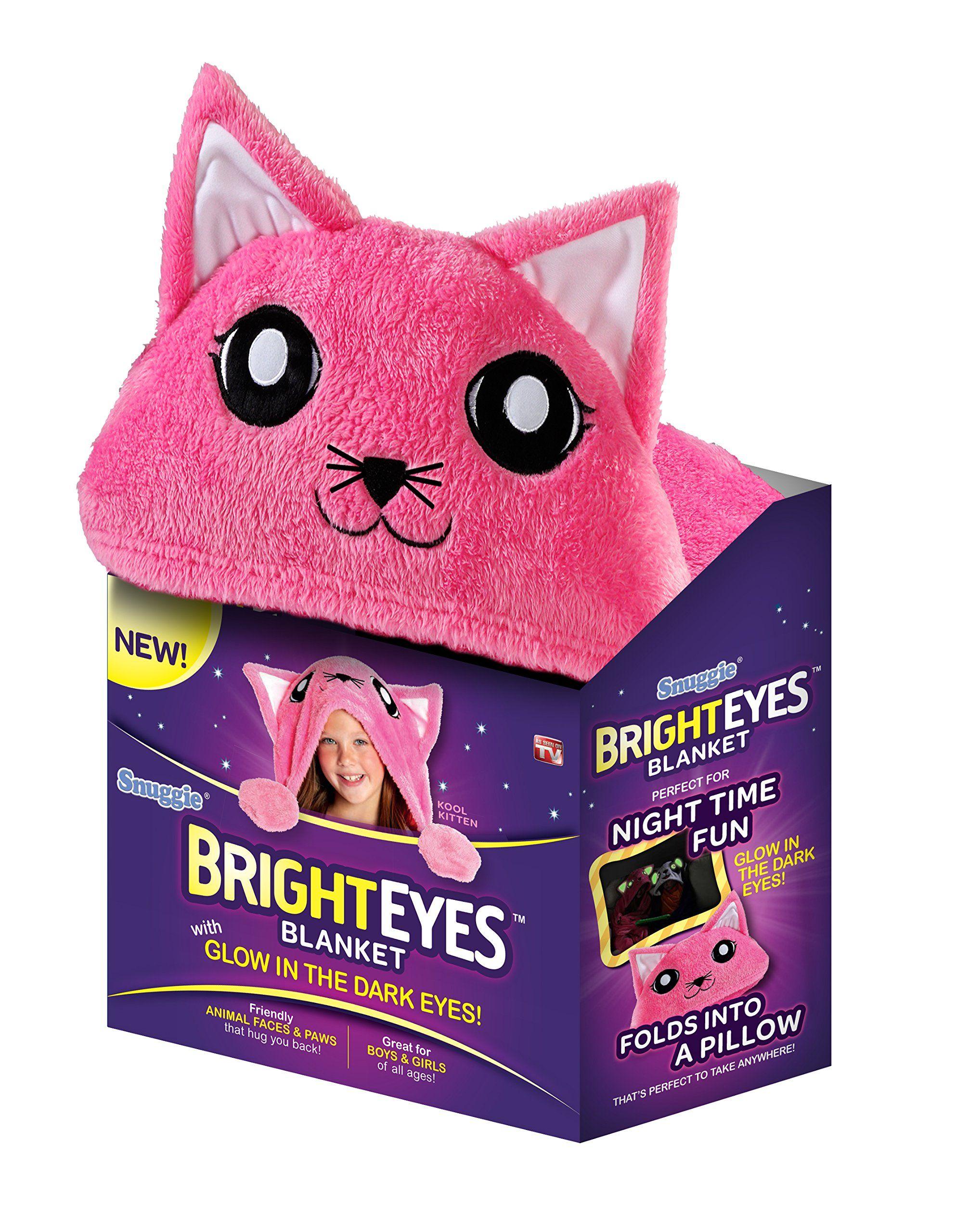 Bright Eyes Blanket By Snuggie Pink Kitten Eye Blanket Kids Blankets Snuggie Blanket