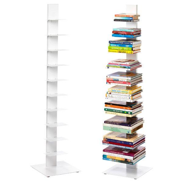White Floating Bookshelf Office Organization Floating