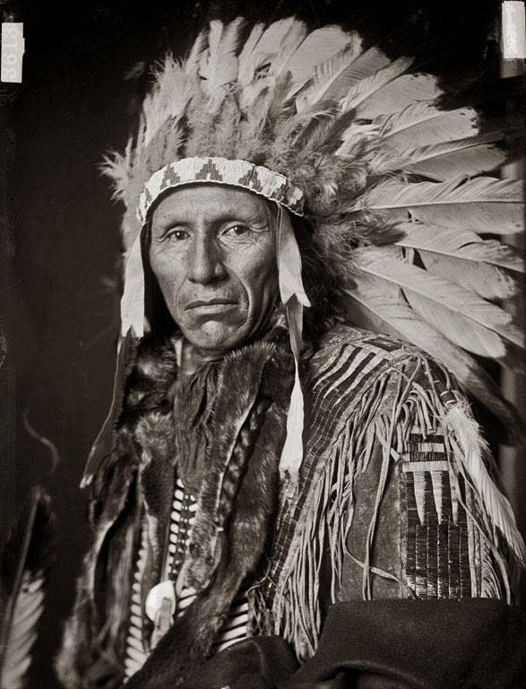 Eagle Dog, Yankton Sioux Indian Chief Photographed in 1908