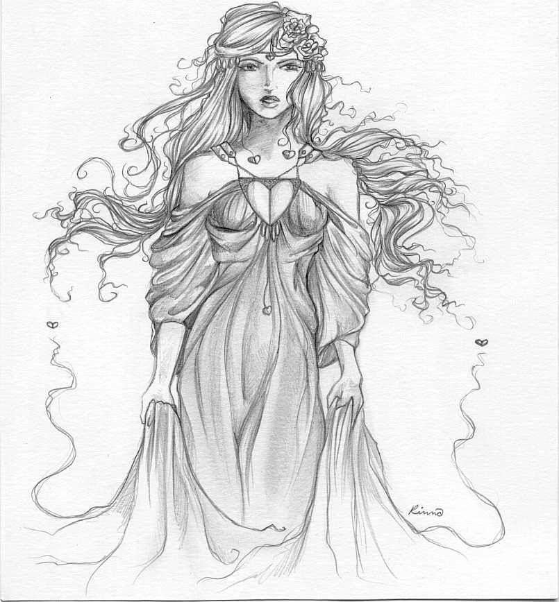 Aphrodite Greek Goddess Drawings Pretty Pictures Pinterest